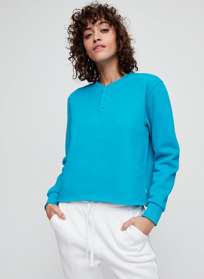 PETRA SWEATER - Fleece henley sweatshirt