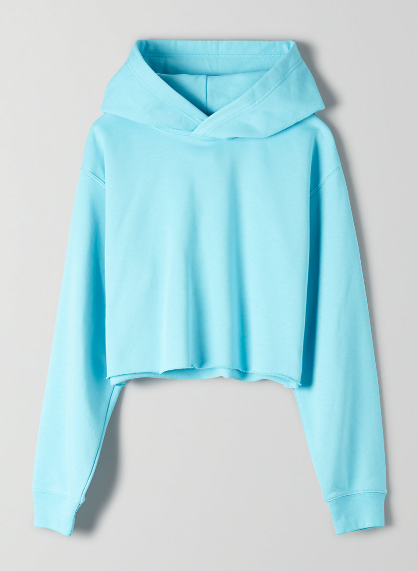 THE PERFECT CROP HOODIE LIGHT - Cropped terry hoodie