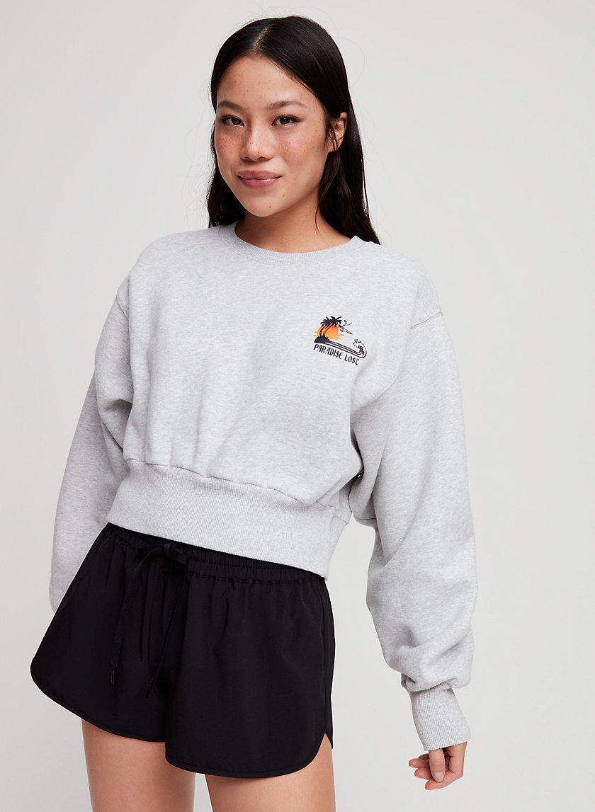 PERKINS SWEATSHIRT - Cropped, crewneck sweatshirt