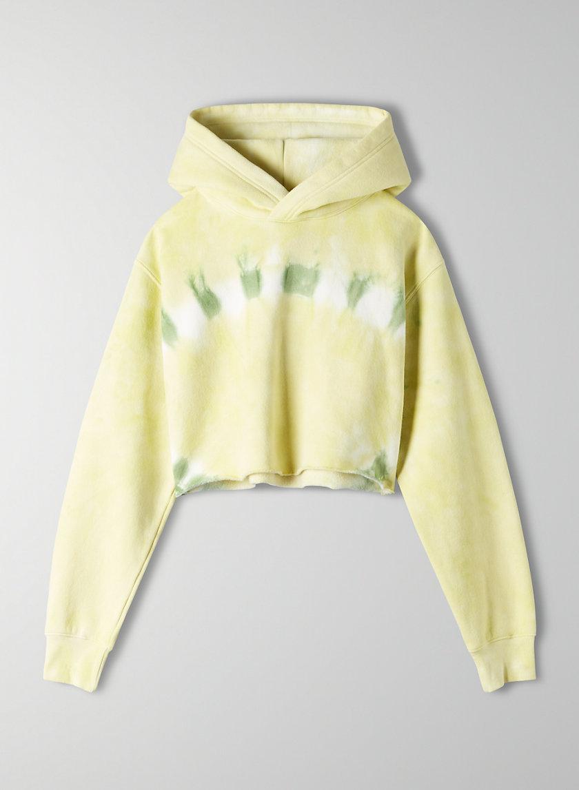 PERFECT HOODIE CROP LIGHT - Cropped tie-dye hoodie