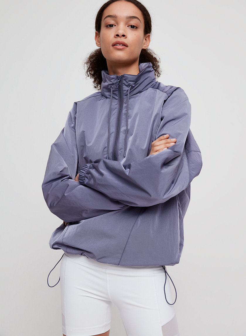DOPE DYED TRACK JACKET - Quarter-zip pullover jacket