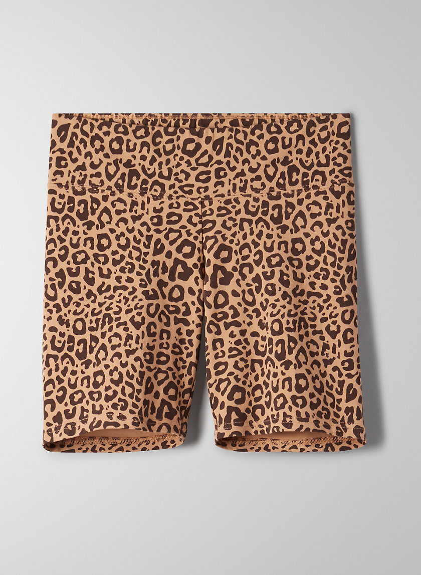 "EQUATOR SHORT 7"" - Leopard-print bike shorts"