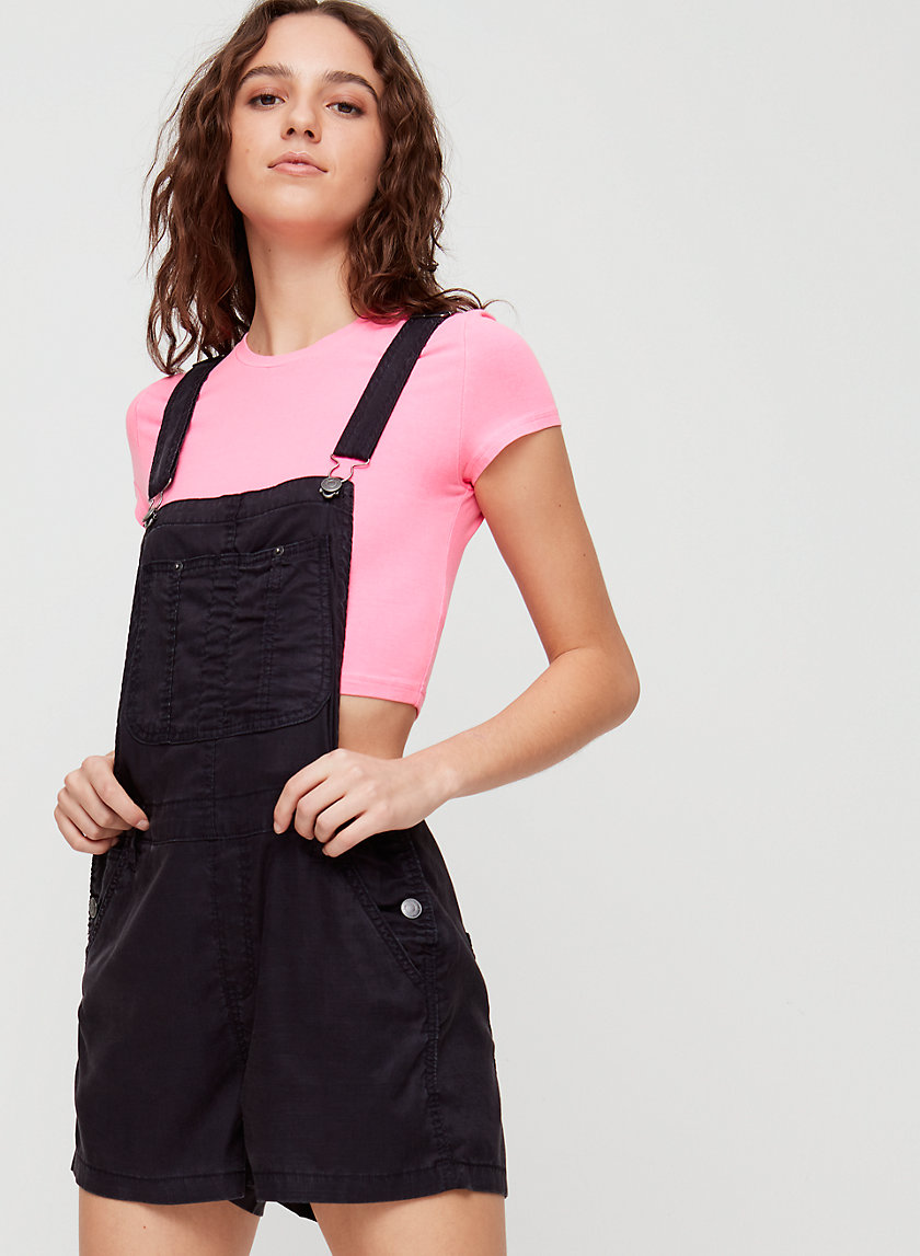 SENRYU ROMPER - Chambray short overalls