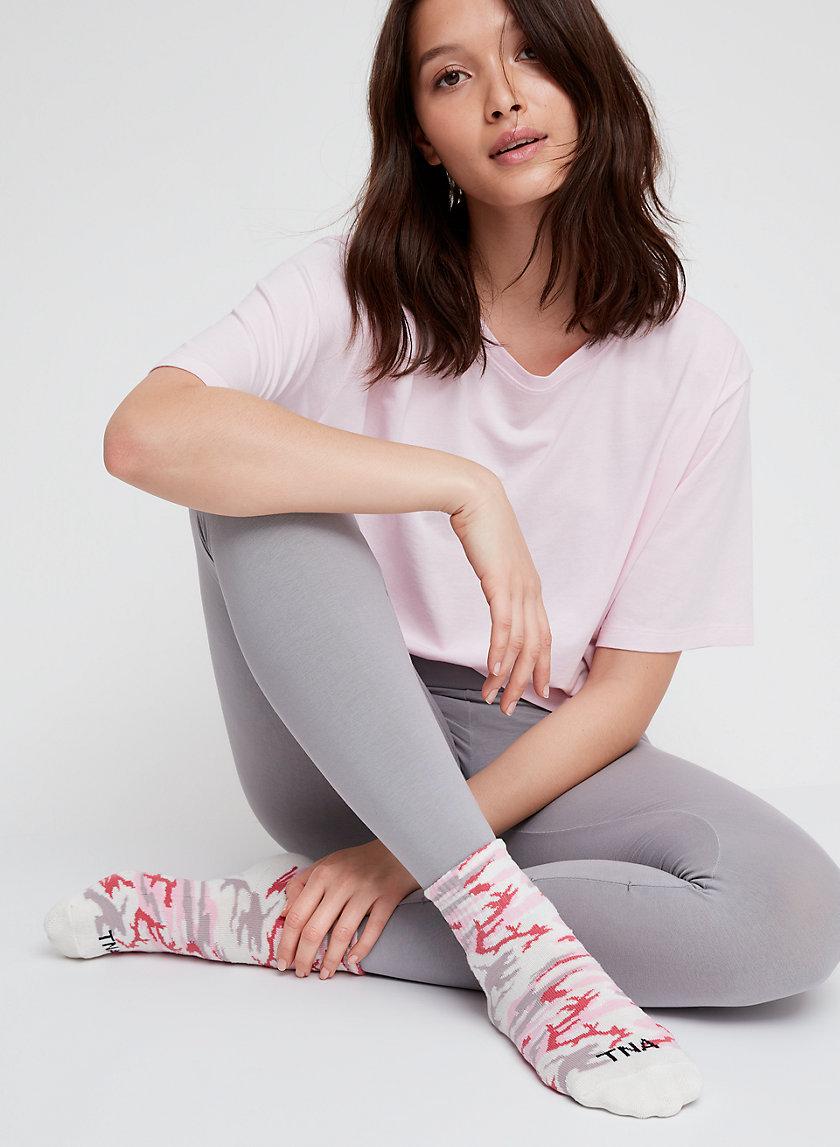 TNANK YOU HIGH ANKLE - Camo socks