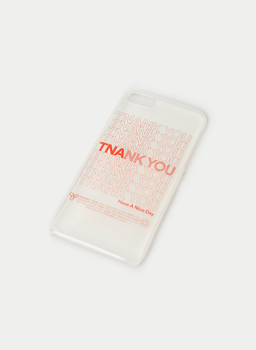 TNANK YOU IPHONE CASE - Clear iPhone case