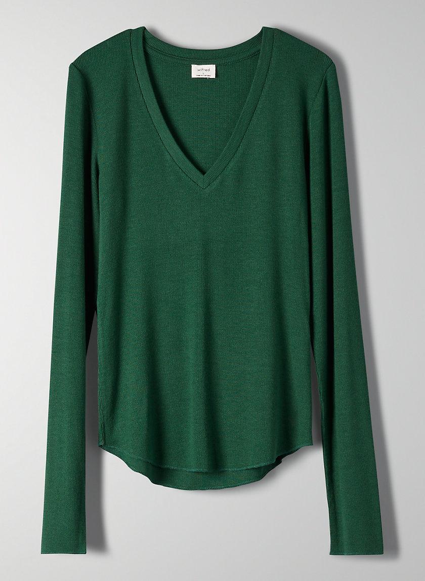 LANDREVILLE T-SHIRT - Long-sleeve, ribbed t-shirt