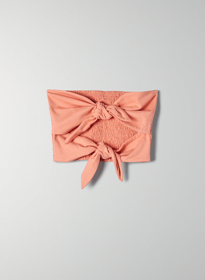 DAVENEY TUBE TOP - Strapless, tie-front top