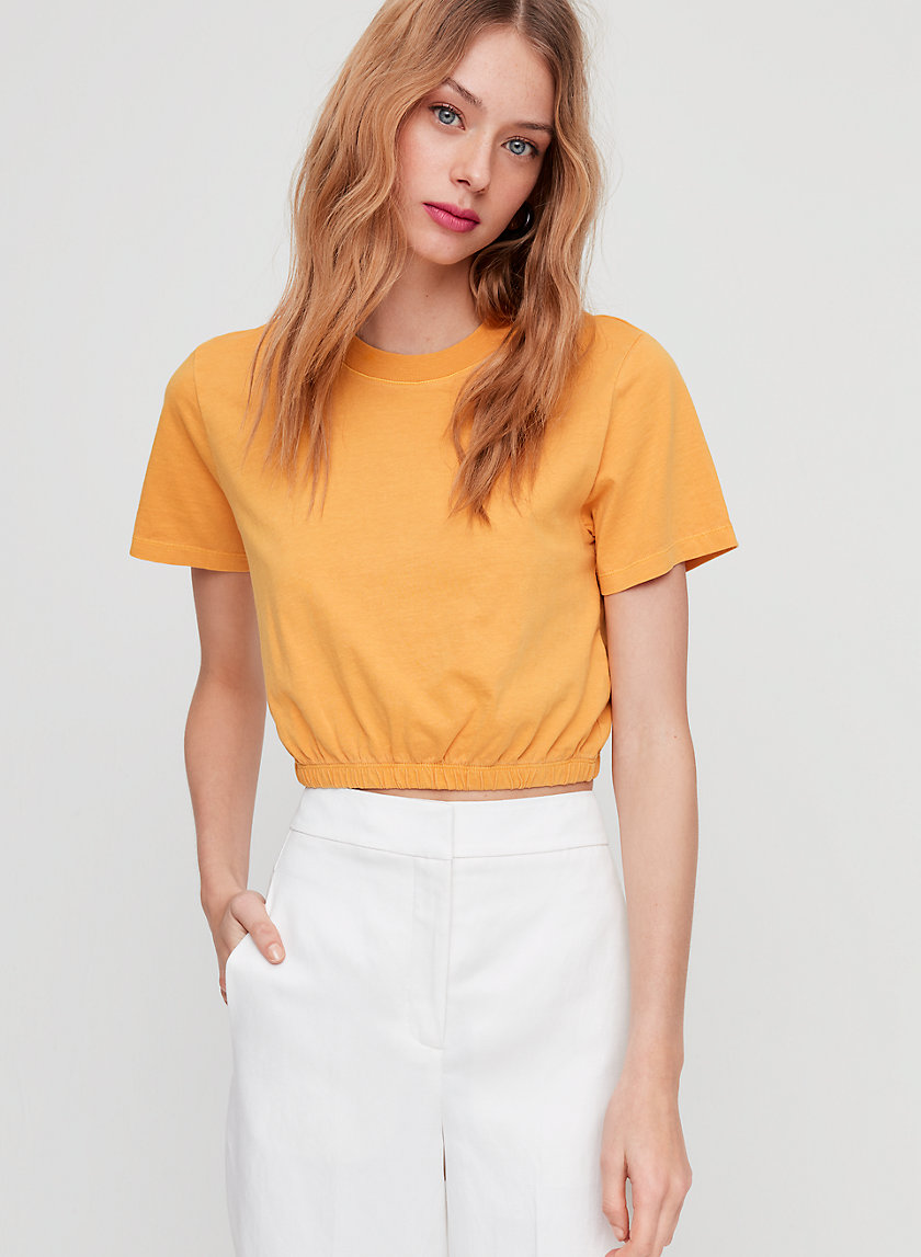 PIAF T-SHIRT - Cropped, cinched-waist t-shirt
