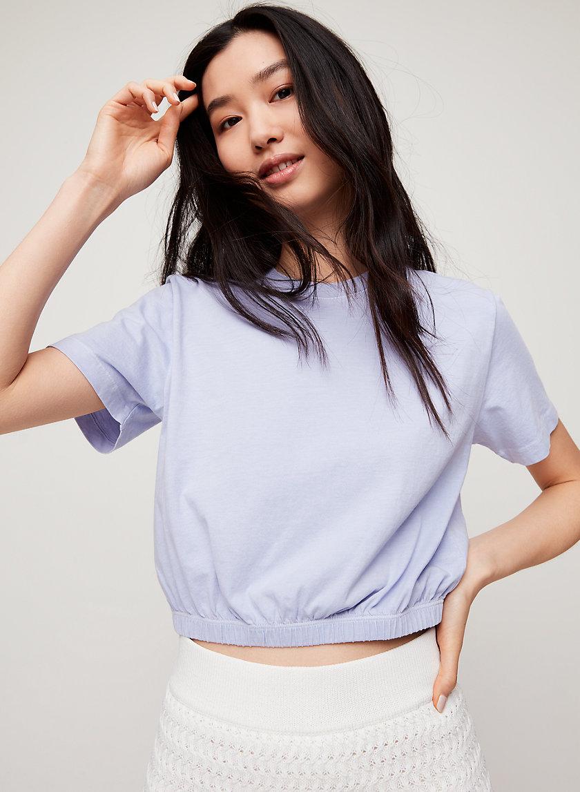 PIAF T-SHIRT - Cropped, cinched-waist t-shirt
