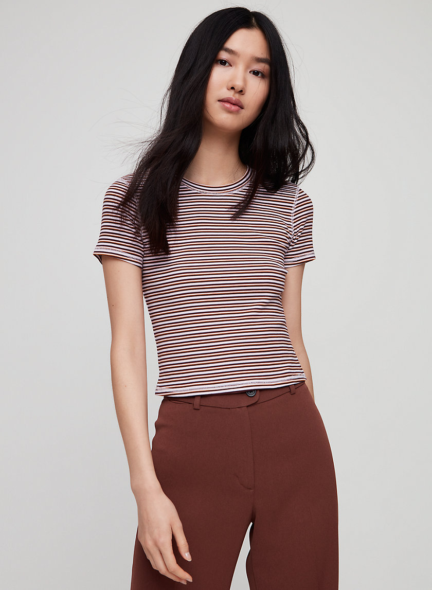 HELAINE T-SHIRT - Striped crewneck t-shirt