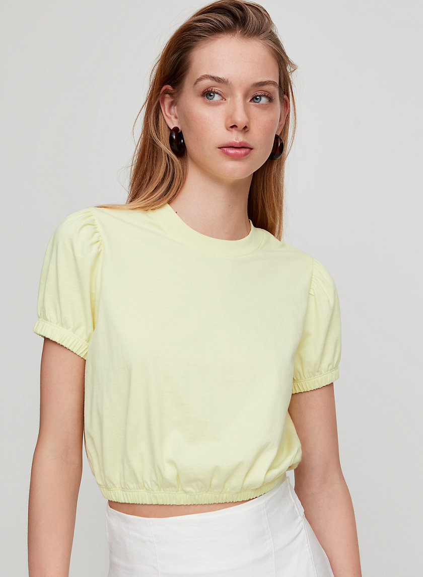 PIAGET T-SHIRT - Cropped, cinched-waist t-shirt