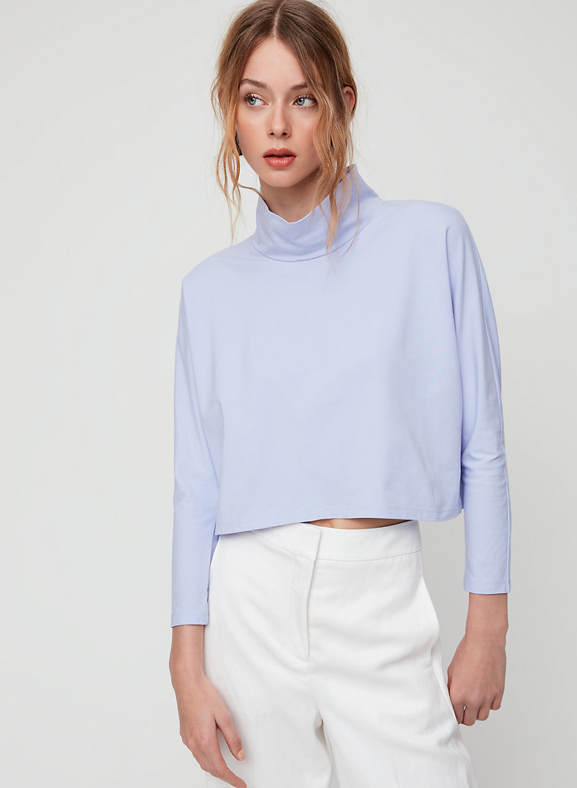 NOELLA MOCKNECK - Cropped, long-sleeve t-shirt