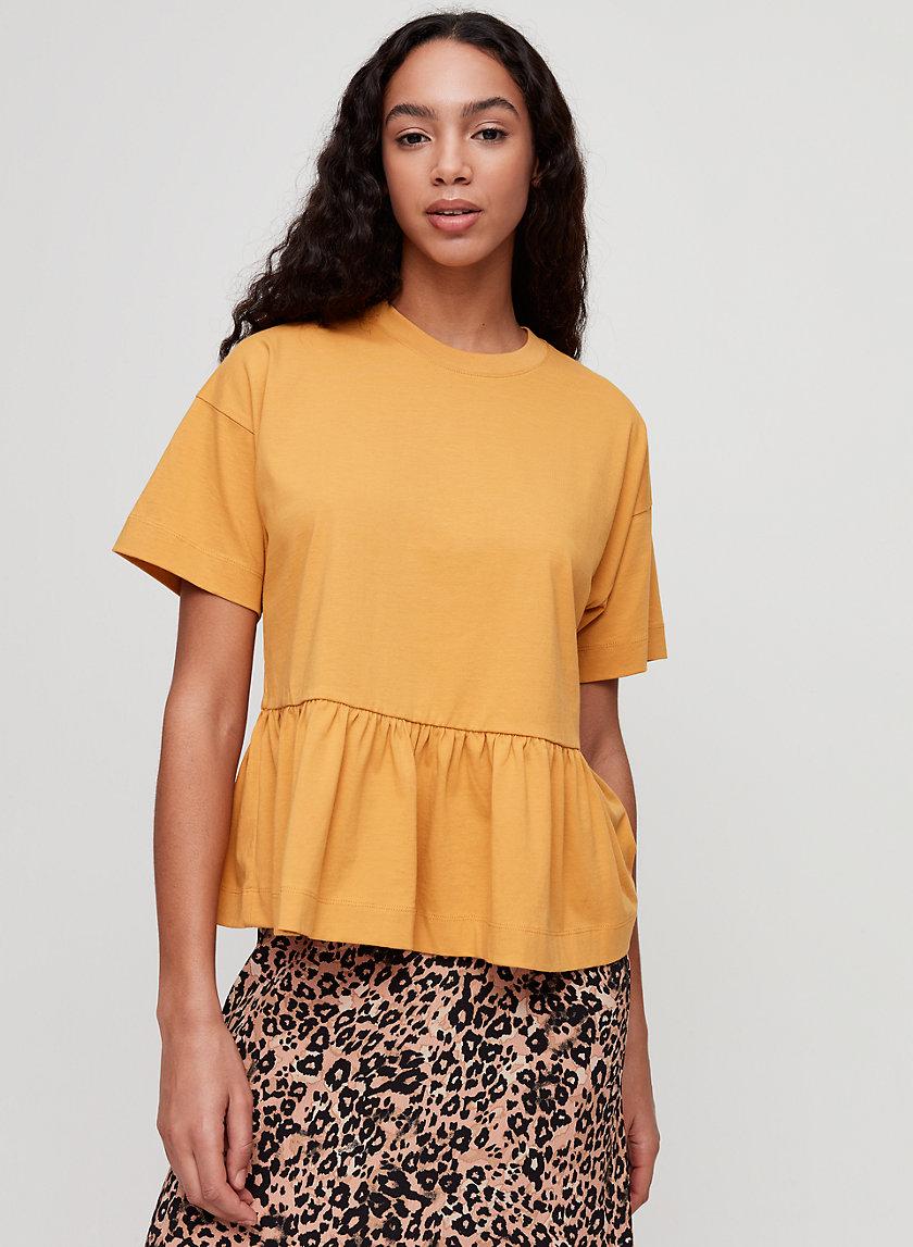LISANDRA T-SHIRT - Ruffled peplum t-shirt