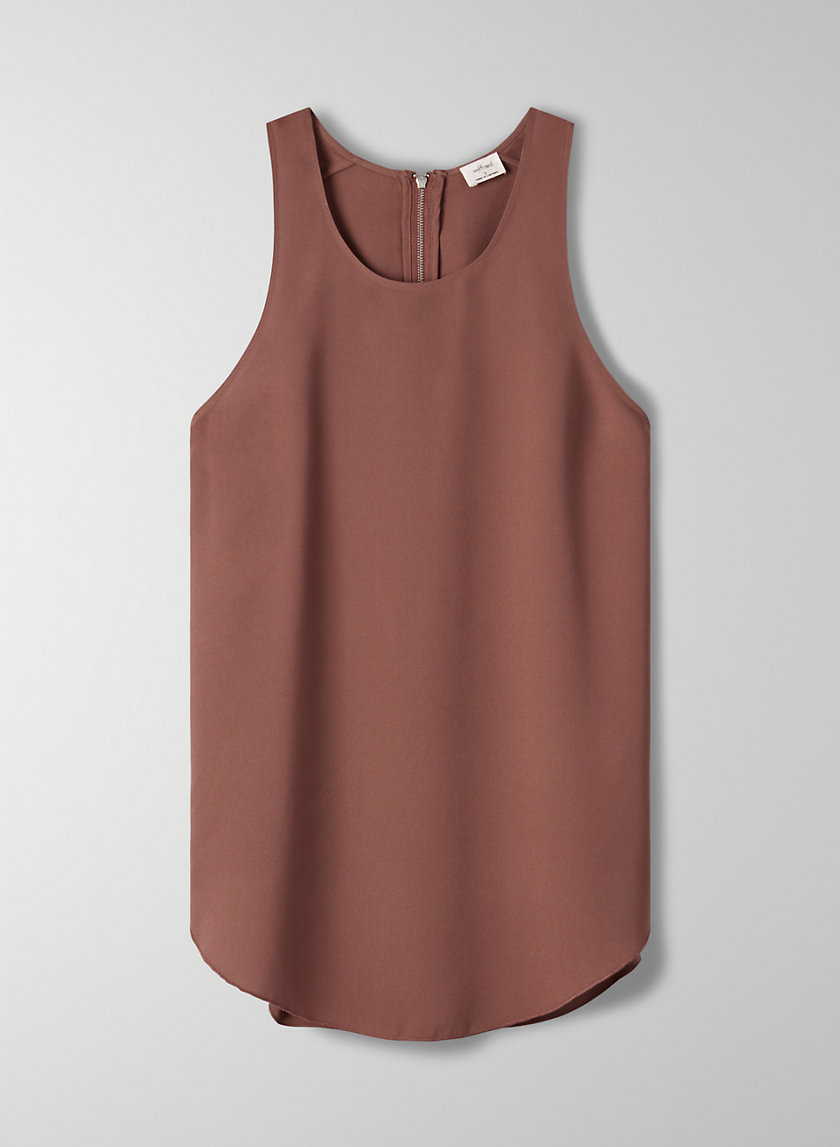 SÈVRES BLOUSE - Sleeveless zip-back blouse
