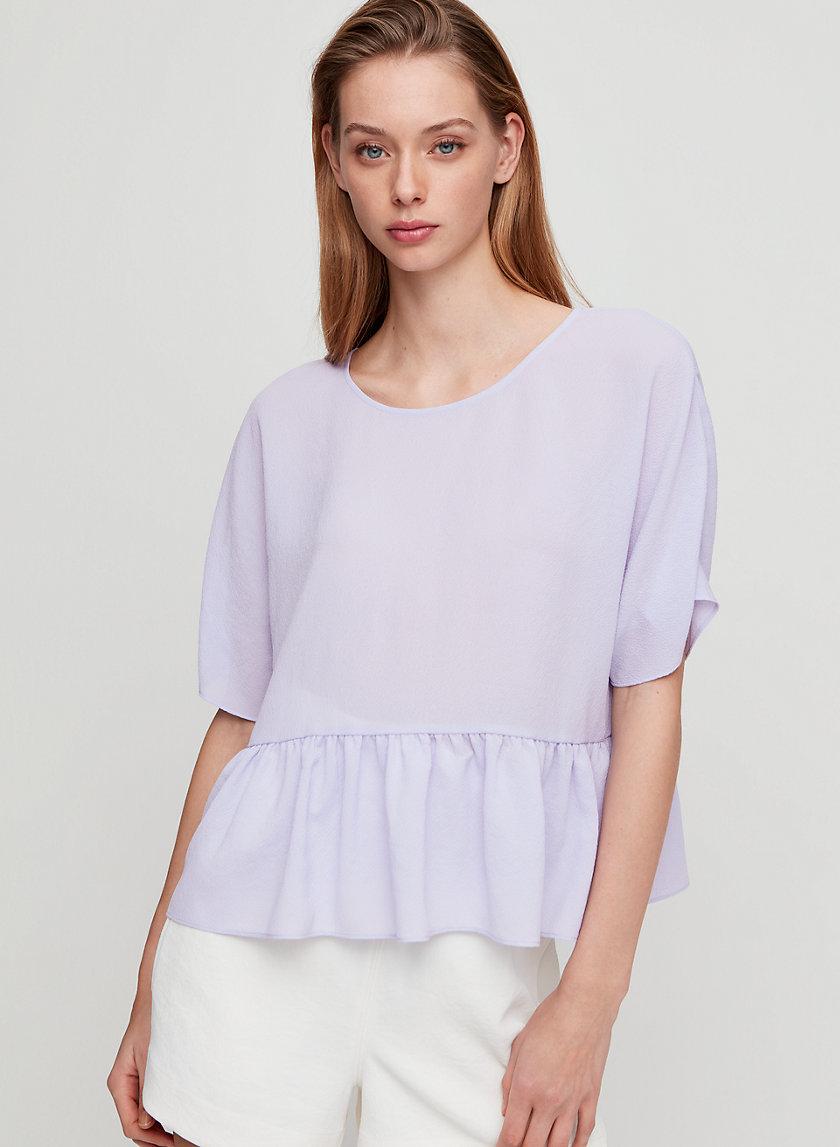 MACEE BLOUSE - Short-sleeve, peplum blouse