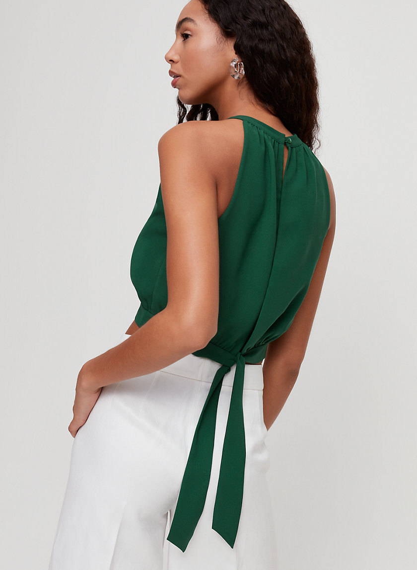 PATRICE BLOUSE - Cropped halter top