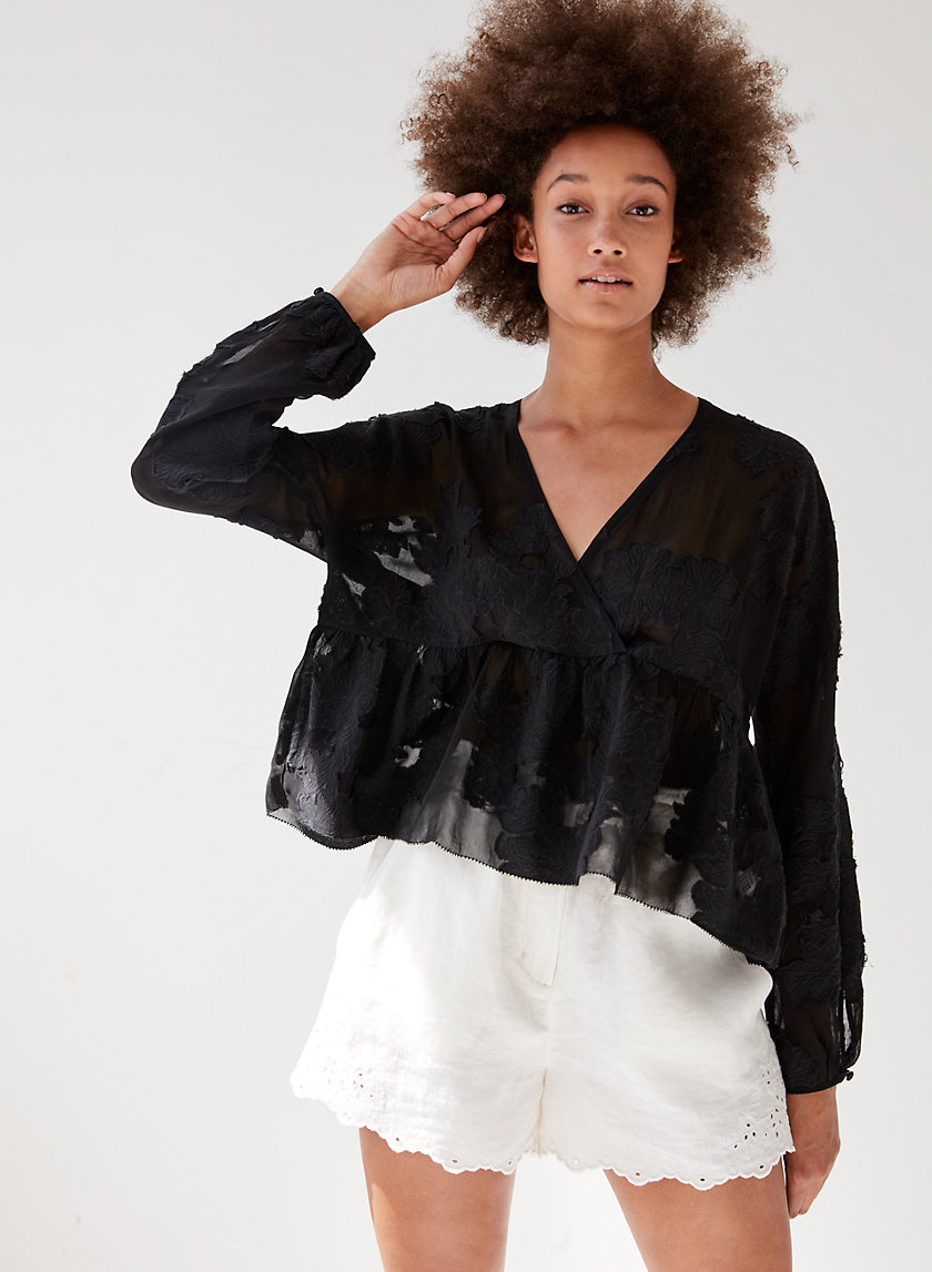 AUGUSTINE BLOUSE - Cropped, peplum blouse