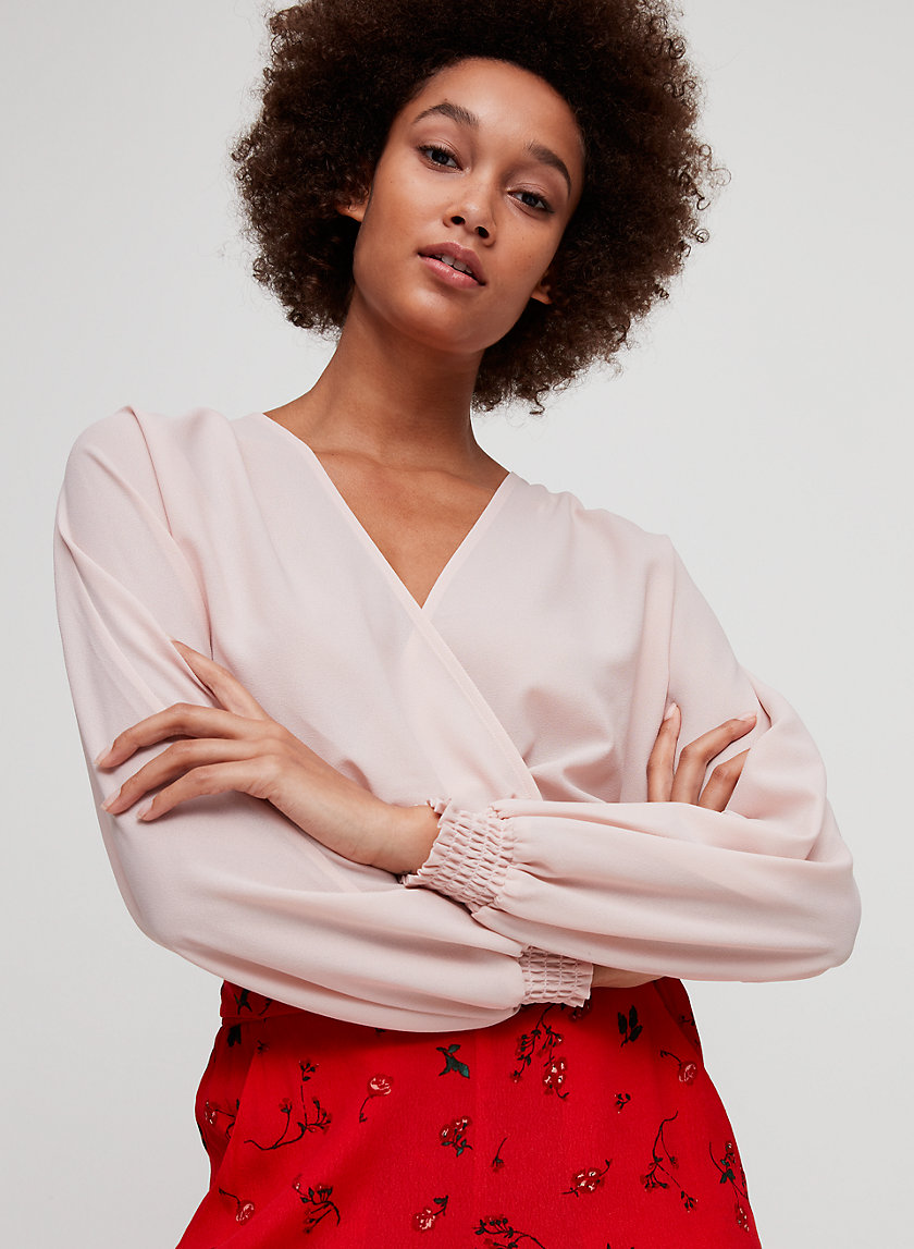 REIGN BLOUSE - Cropped wrap blouse