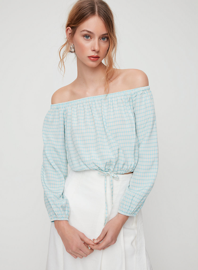 ELEANORA BLOUSE - Cropped, off-the-shoulder blouse
