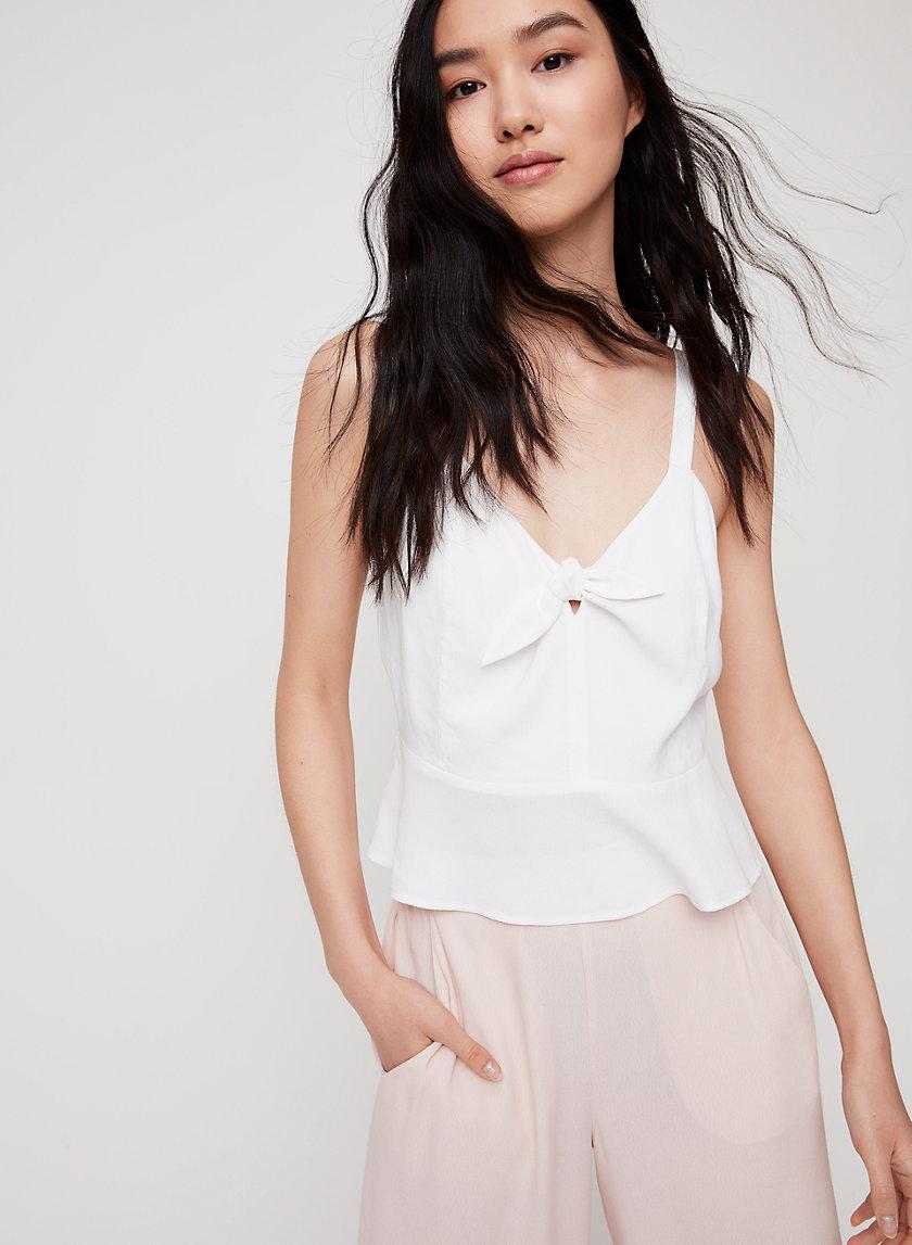 BOW TANK - Peplum camisole