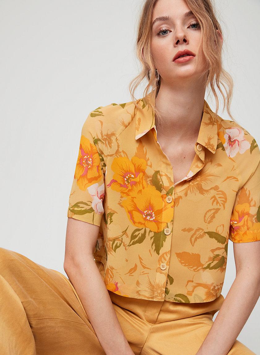 HENRIETTA SHIRT - Short-sleeve, floral blouse