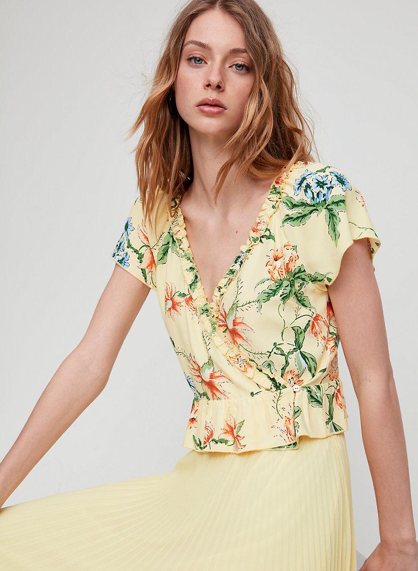 AURELIA TOP - Short-sleeve wrap blouse