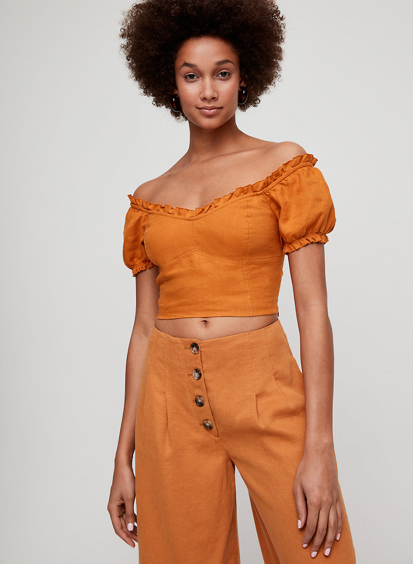 WANDER BLOUSE - Cropped, off-the-shoulder top