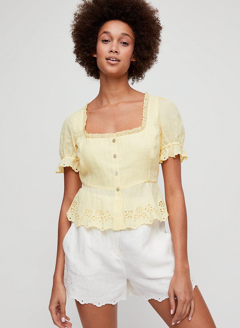 ARWEN BLOUSE - Linen peplum blouse