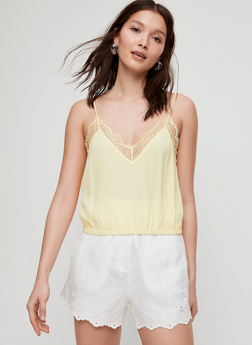 AGYNESS CAMISOLE - Cropped lace camisole