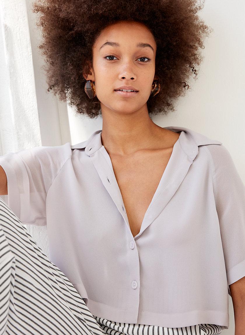 HENRIETTA SHIRT - Cropped short-sleeve blouse