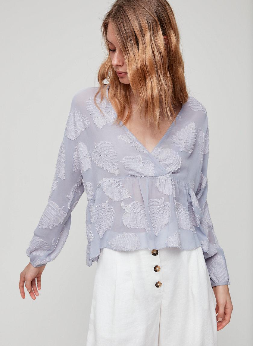 AUGUSTINE BLOUSE - Ruffled peplum blouse
