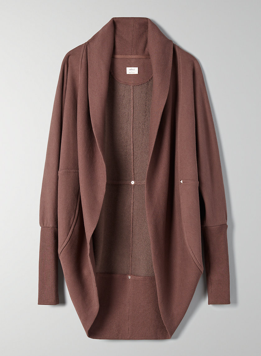 DIDEROT SWEATER - Open-Front Cocoon Cardigan