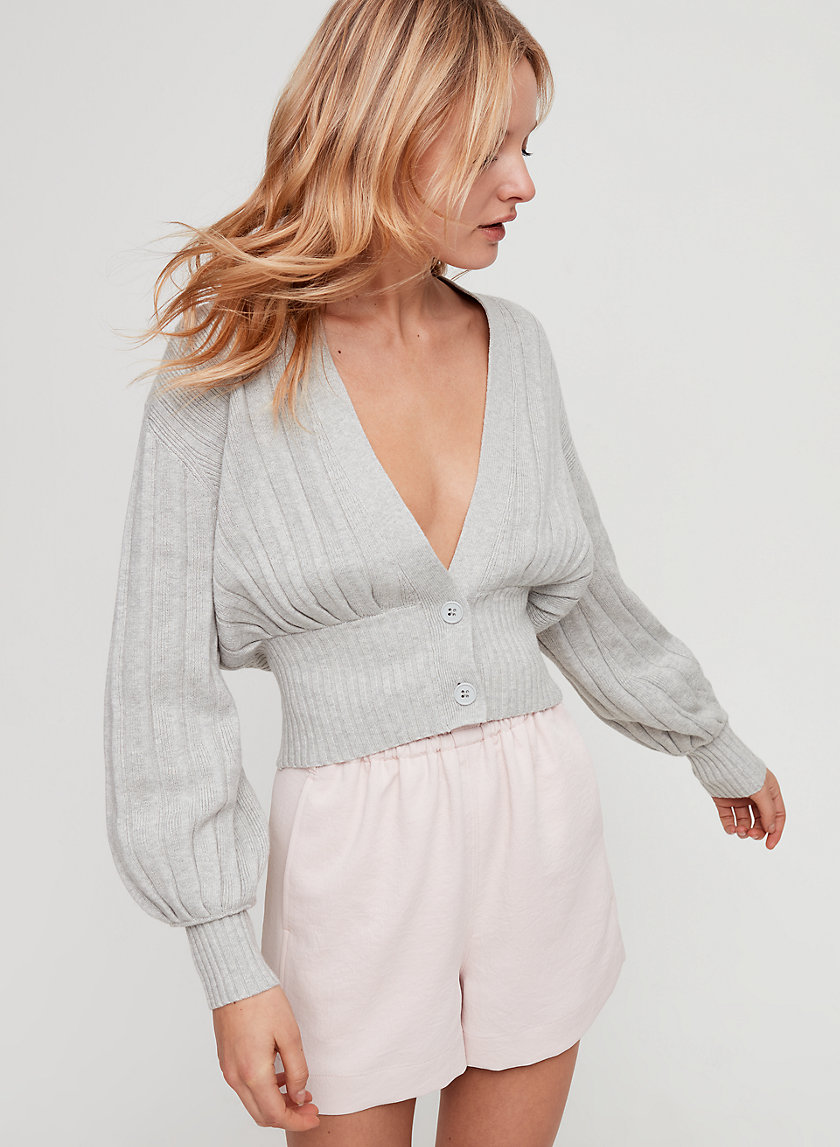 THAIS CARDIGAN - Cropped, deep-V cardigan