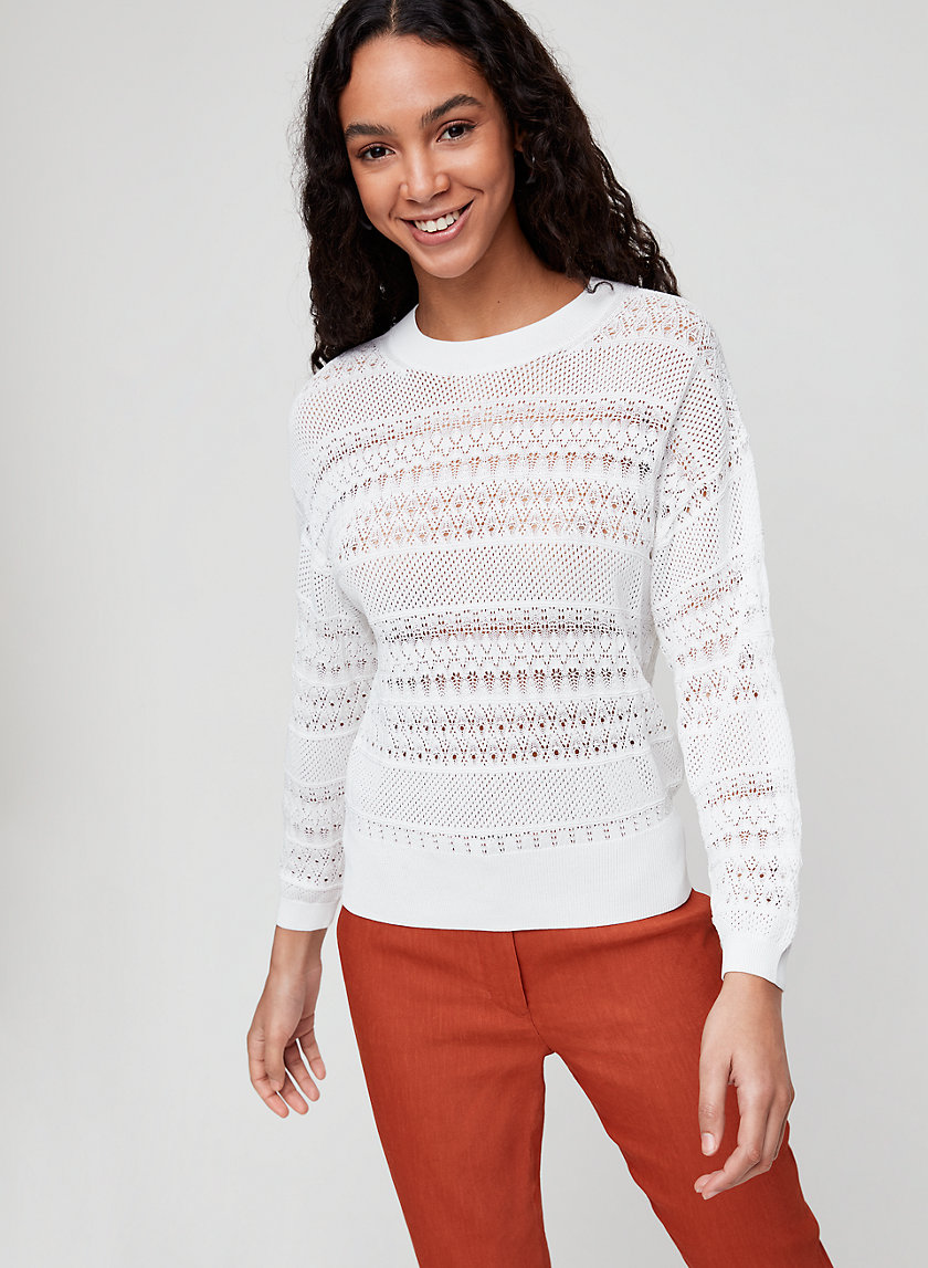LIVVIE SWEATER - Pullover, pointelle sweater