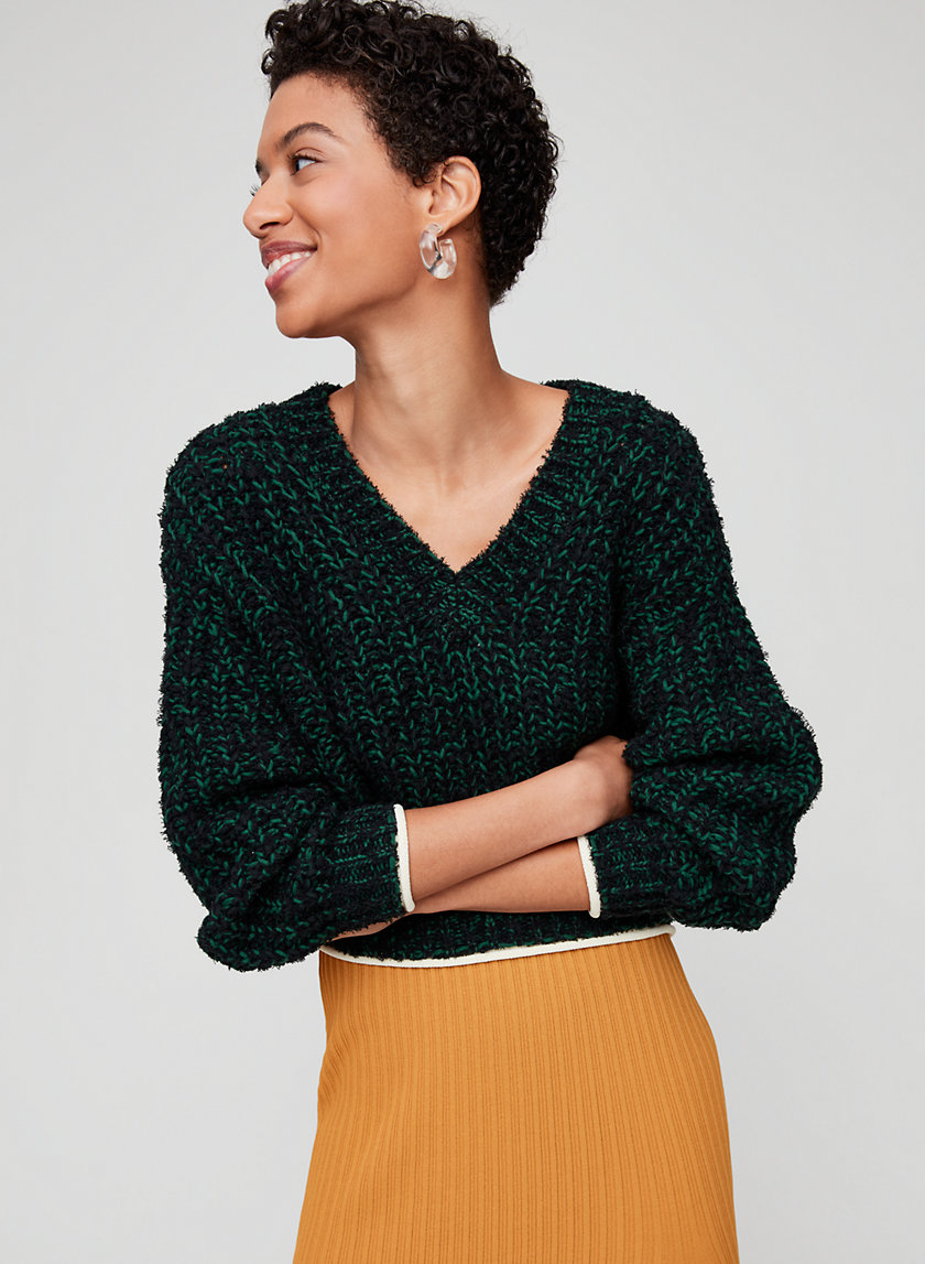 ELEANORE SWEATER - Lightweight V-neck sweater