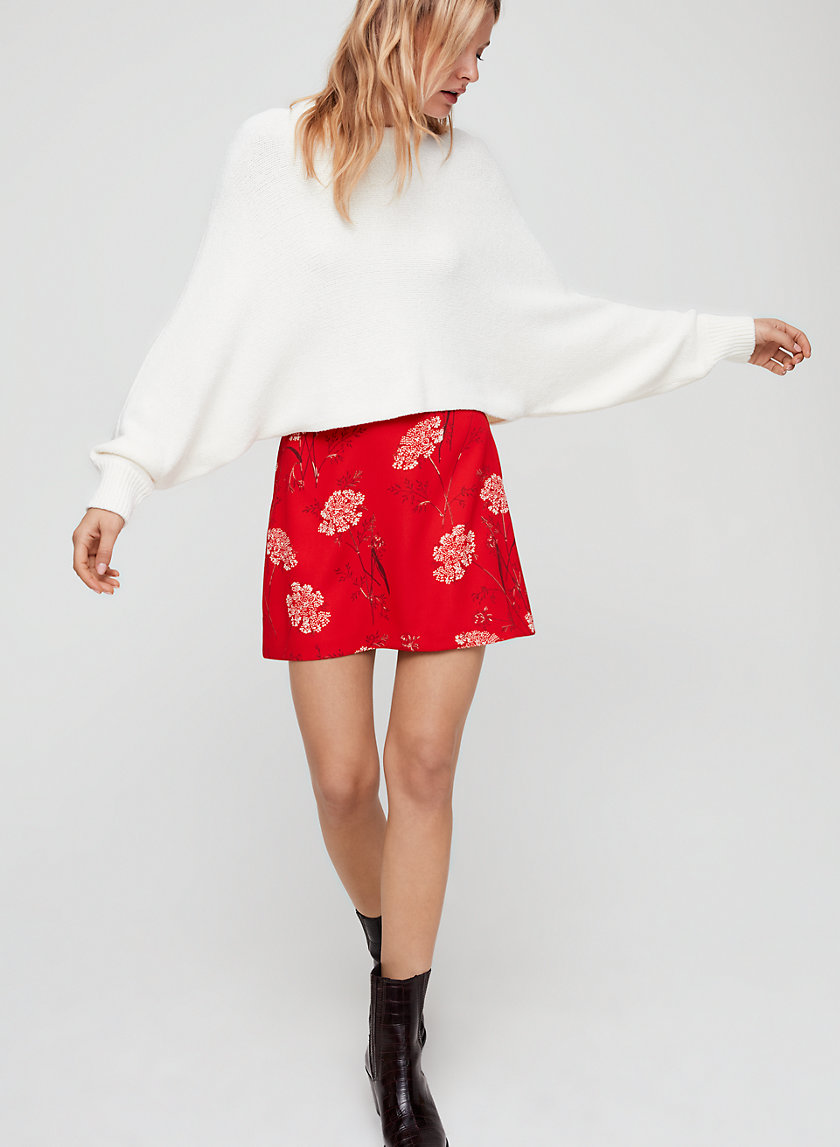 MIMI SWEATER - Cropped, chenille sweater