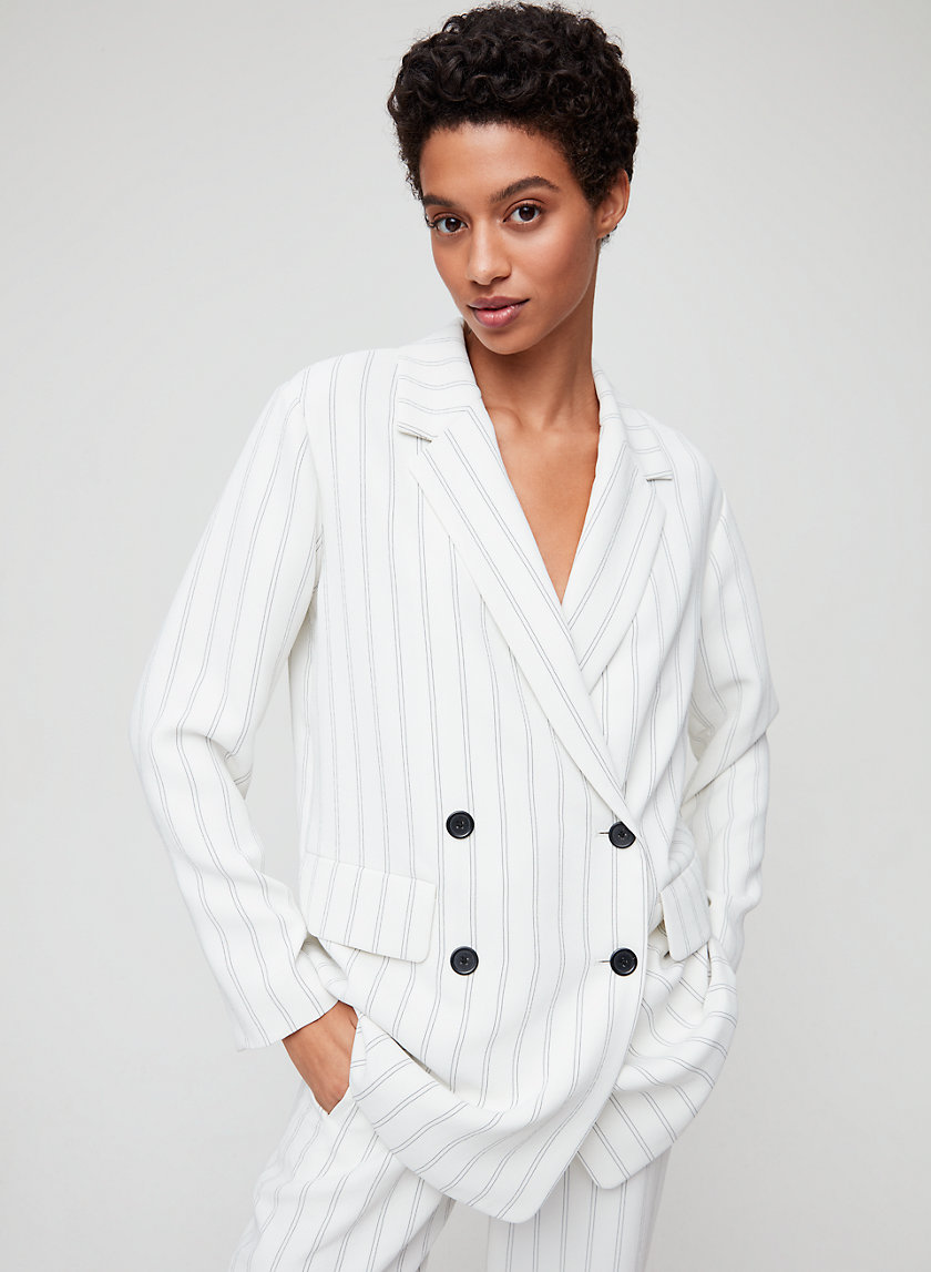 CHERRELLE JACKET - Pinstripe, double-breasted blazer