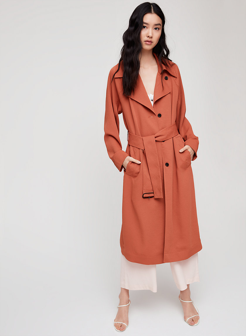 Wilfred PELAT TRENCH COAT | Aritzia