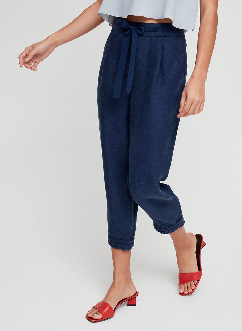 ALLANT PANT - Cropped linen pant
