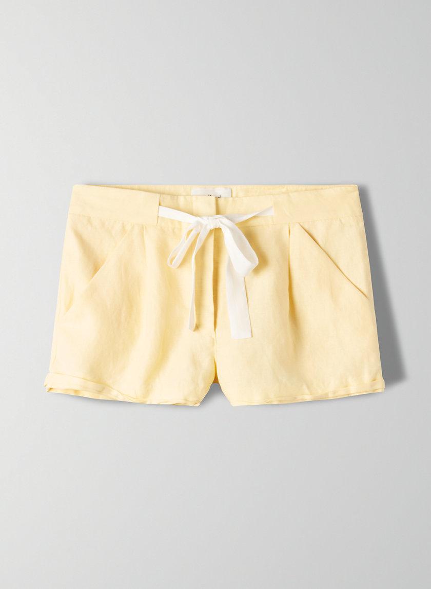 ALLEGRA SHORT - Linen-blend, tie-waist shorts