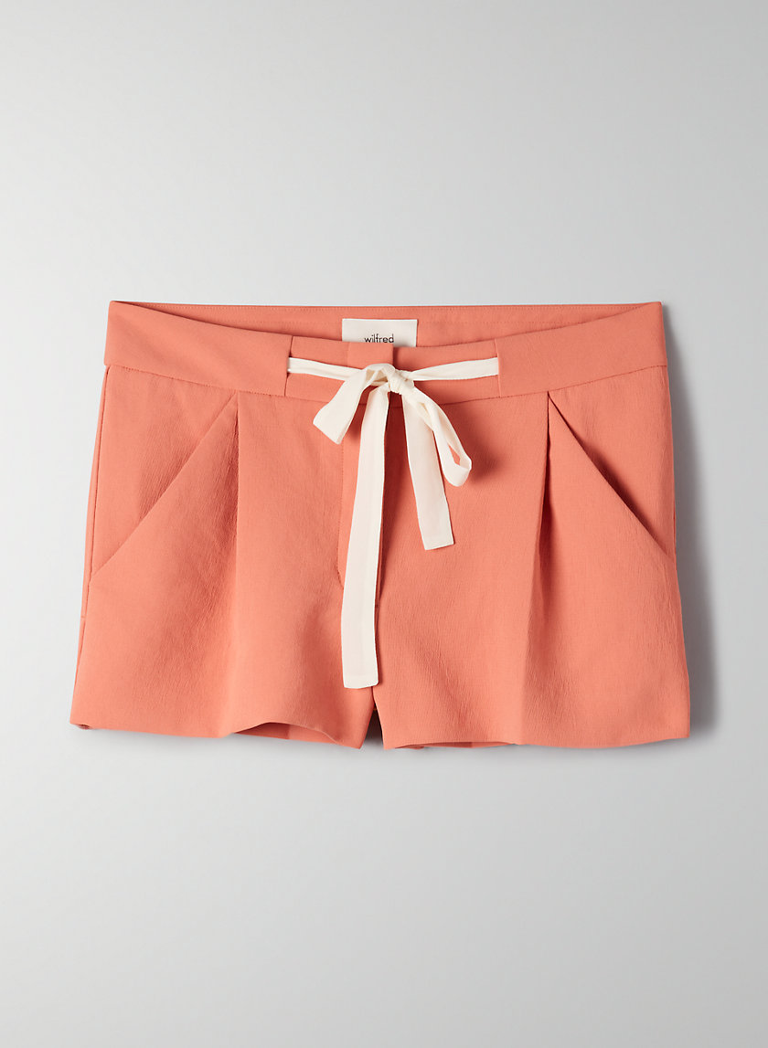 EXERGUE SHORT - Ribbon-tie, crepe shorts