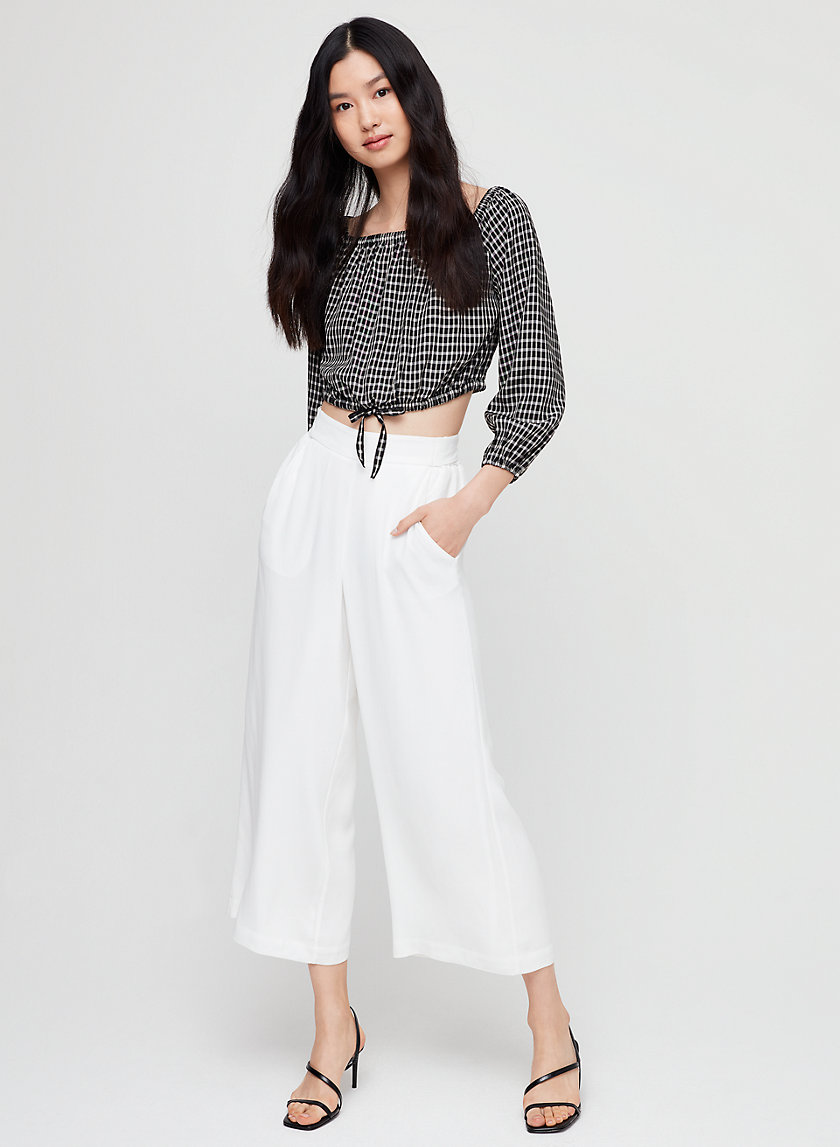 FAUN PANT - High-waisted, wide-leg pant