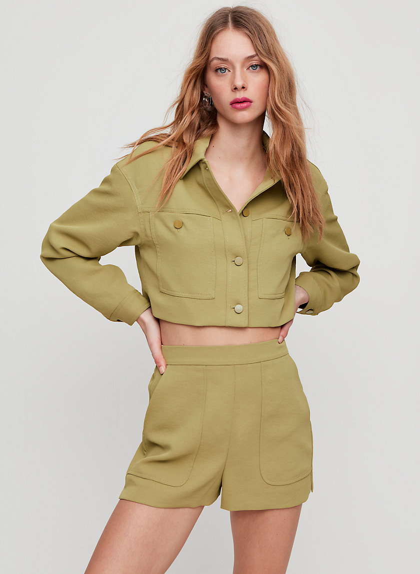 BOISSIER SHORT - High-waisted trouser shorts