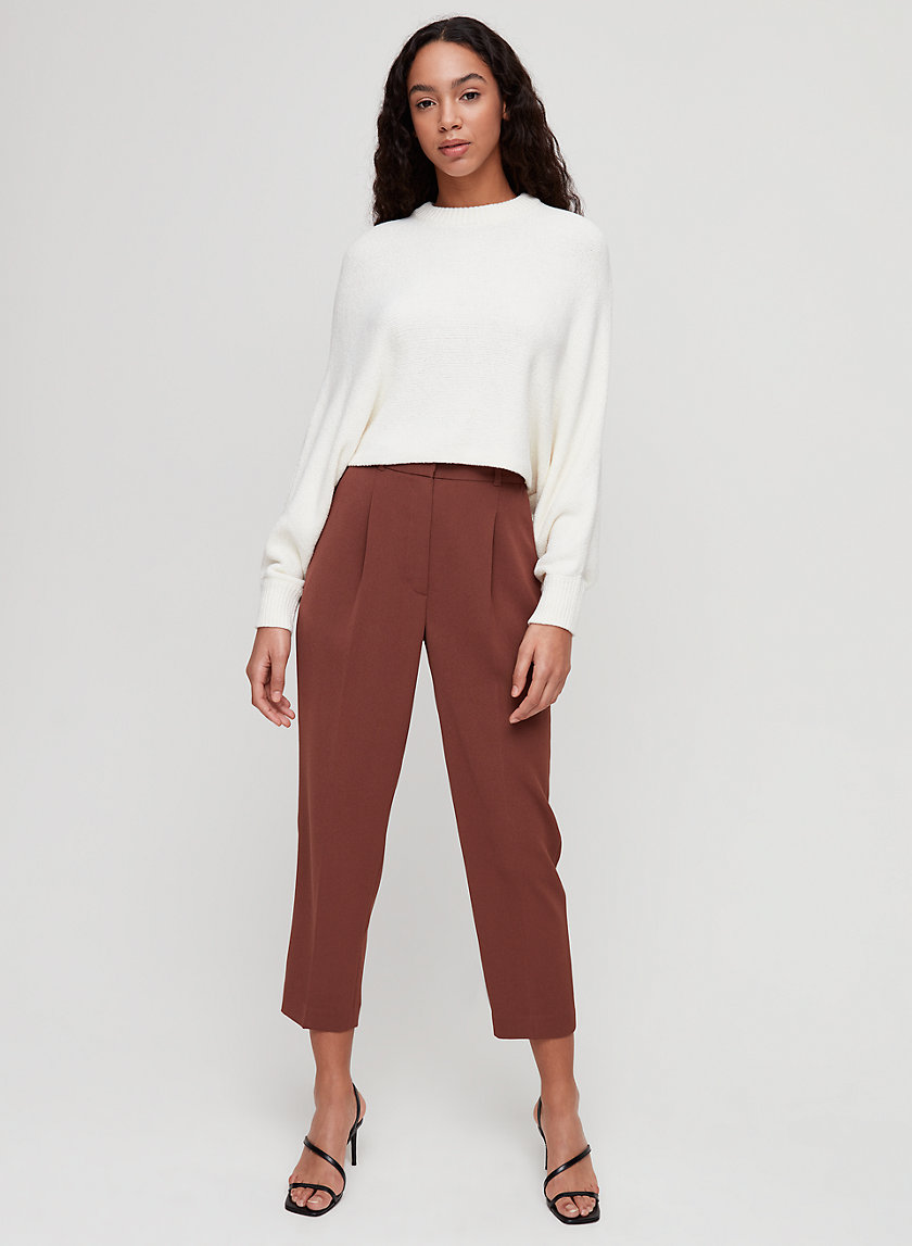 ESSIE PANT - Cropped, high-waisted dress pant