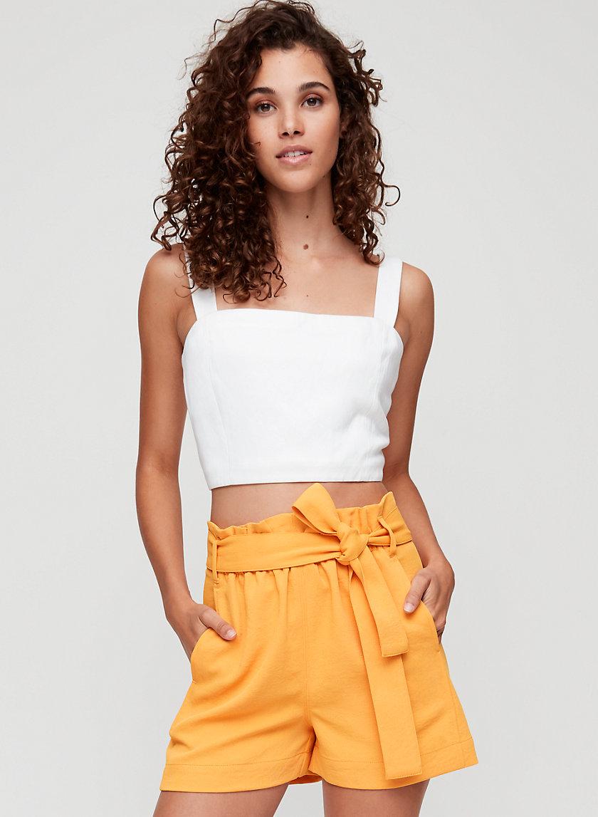 NEW PAPERBAG SHORT - High-waisted, tie-waist shorts