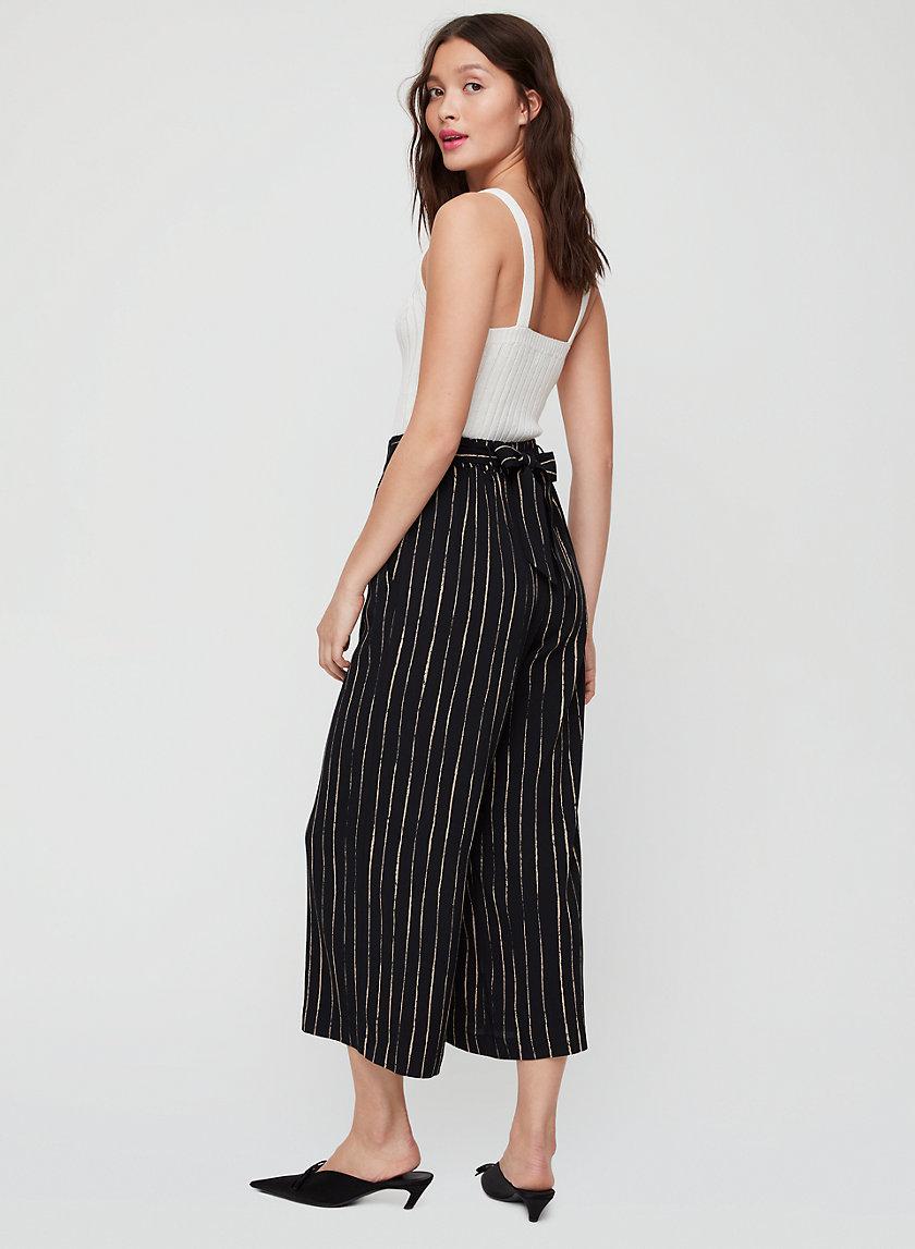 FAUN PANT - Striped, wide-leg pant