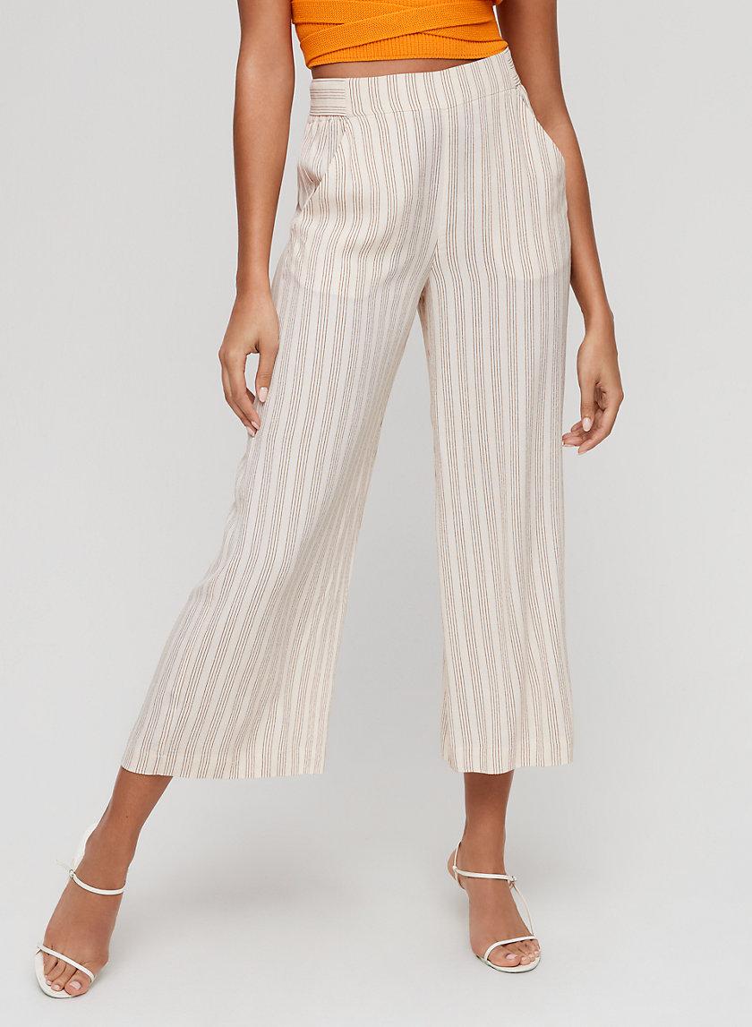 FAUN PANT - Pinstripe, wide-leg pant