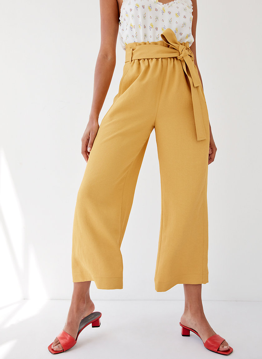 GÉLAS PANT - Cropped, wide-leg, high-waisted trousers