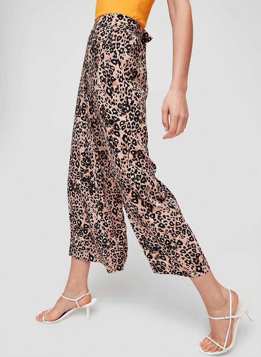 FAUN PANT - Leopard print, wide-leg pant