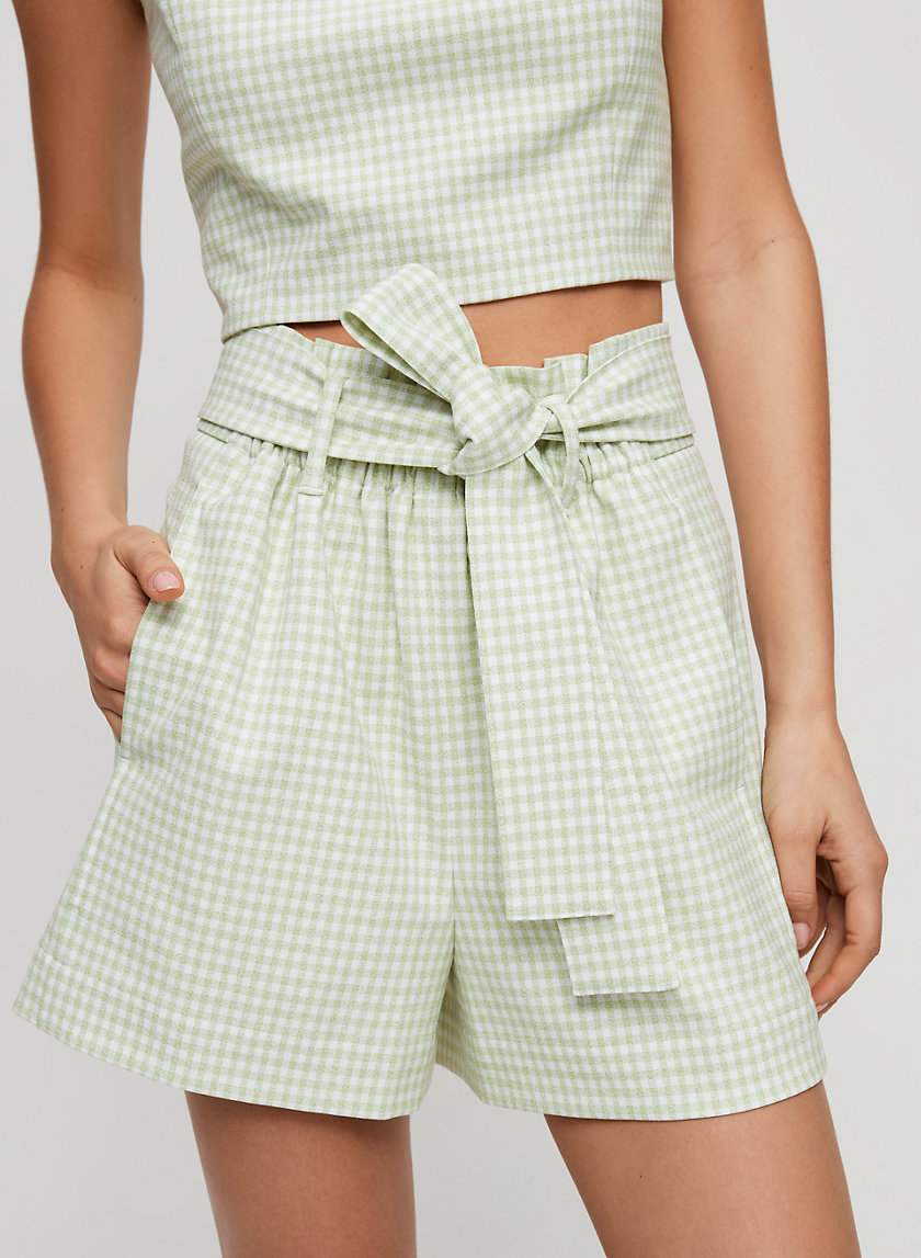 GÉLAS SHORT - High-waisted gingham shorts